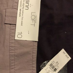 Ann Taylor size 10 low waist cropped women's pants
